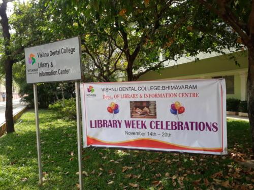 Library Week Celebrations-2019 in Vishnu Dental College