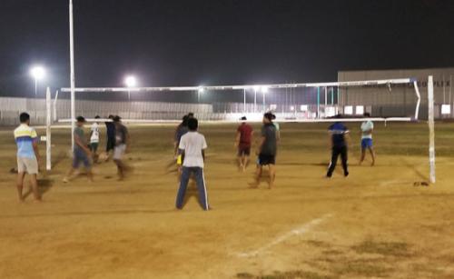 Boys Throw Ball Court