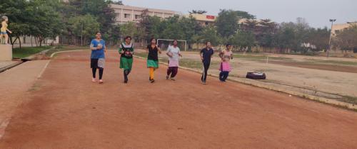 Girls Running track