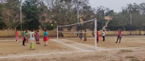 Girls Throw ball Court